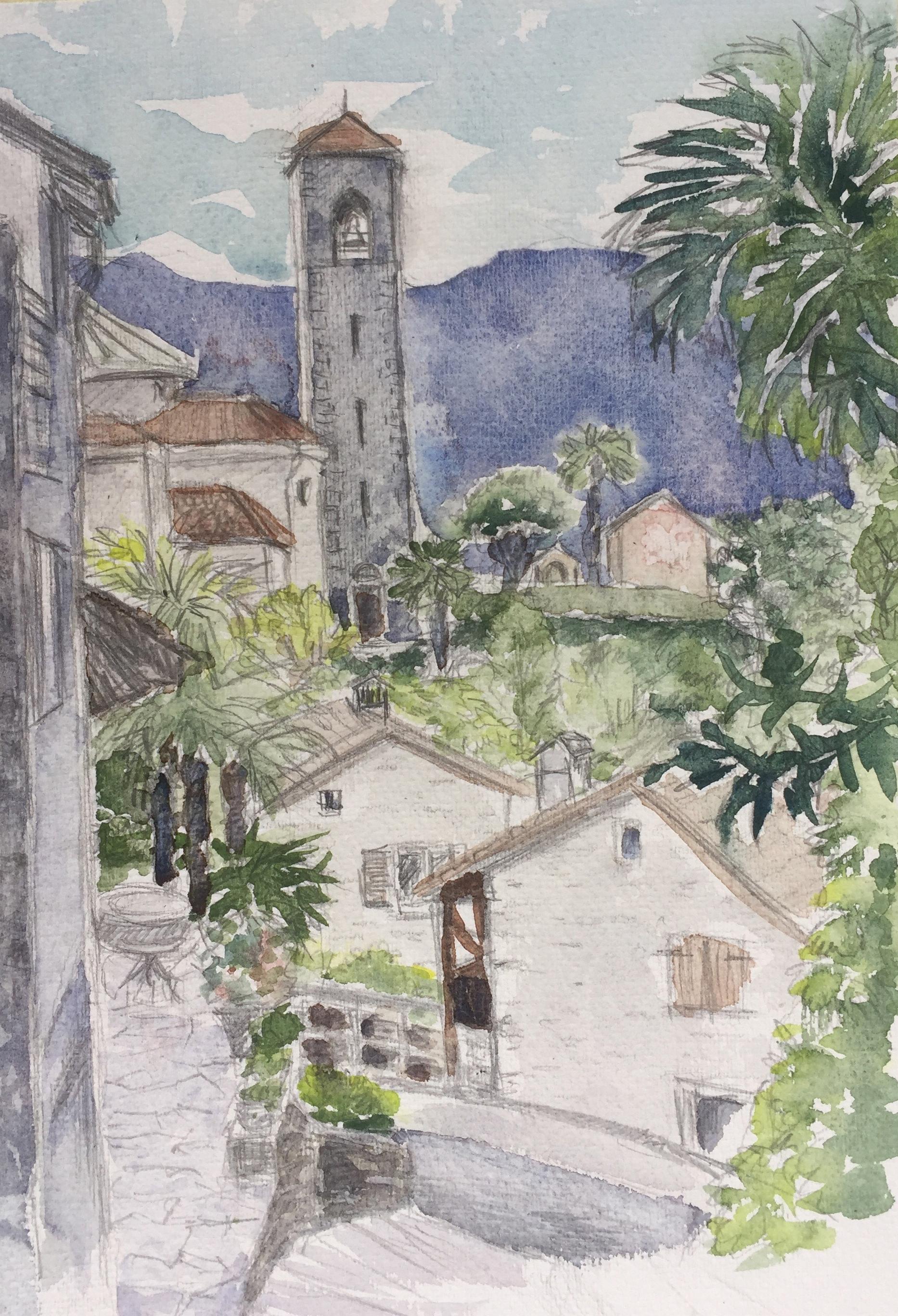 Aquarell_Esthi Birchmeier, 13,9.18, St Abbondio