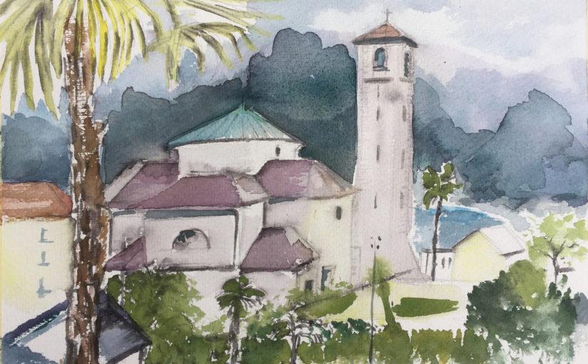 St. Abbondio Zeichnen am Lago Maggiore 2019