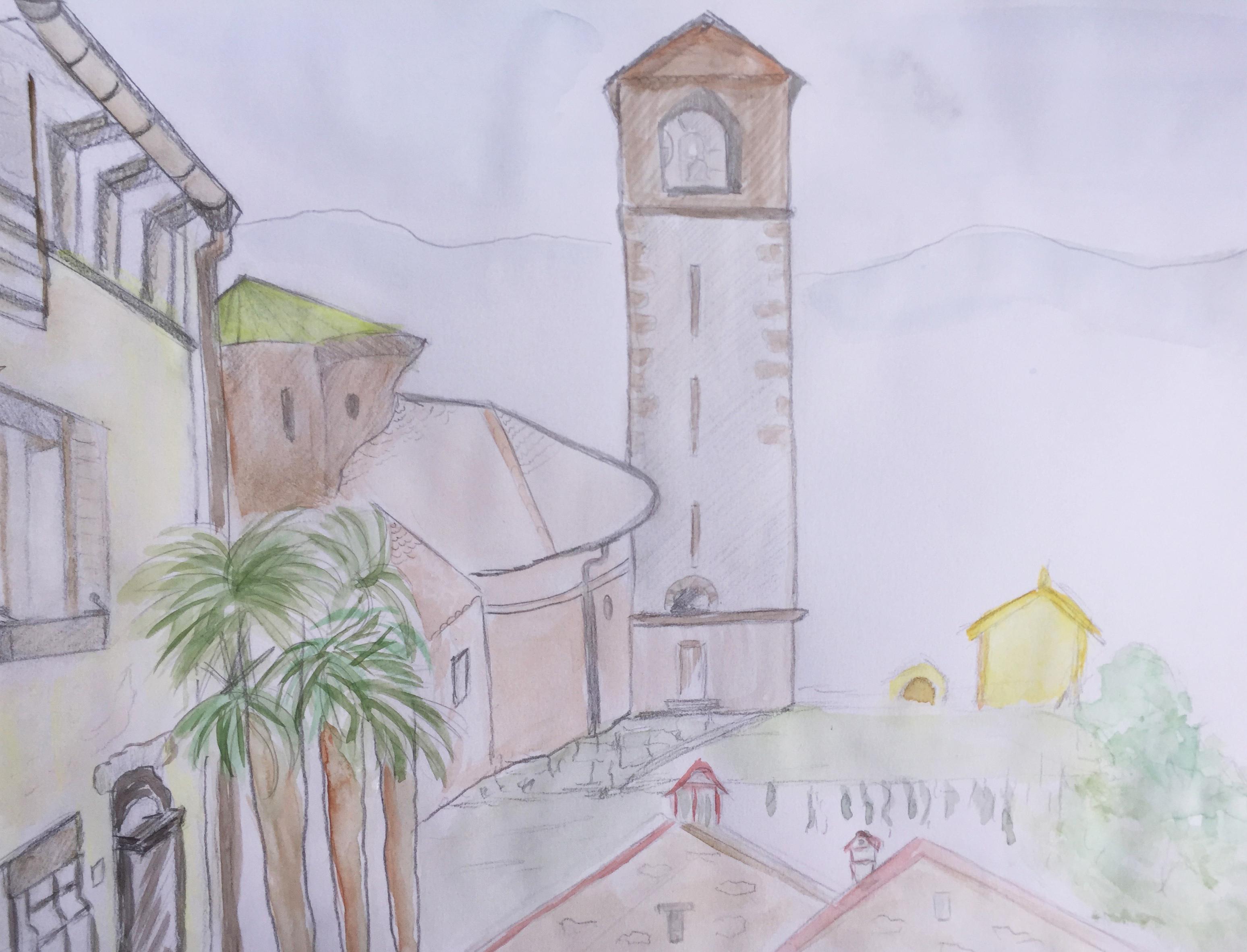 St Abbondio 13.9.18_Aquarell von Eveline Etter