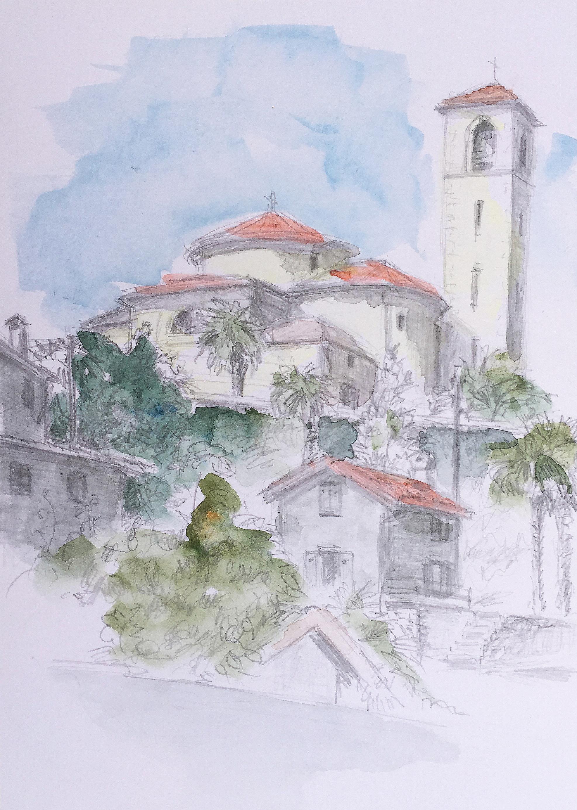 St Abbondio_13.9.18_Aquarell Esthi Birchmeier