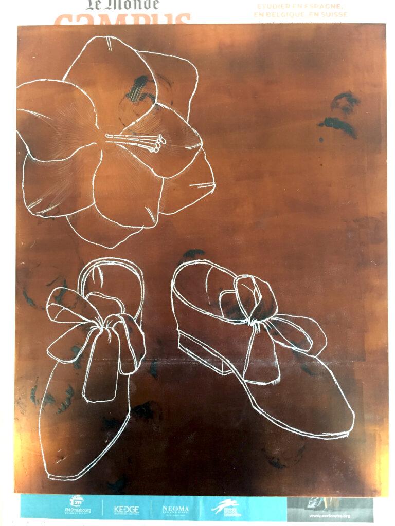 Radierung, Prozess, Kupfer 30 x 36 cm
